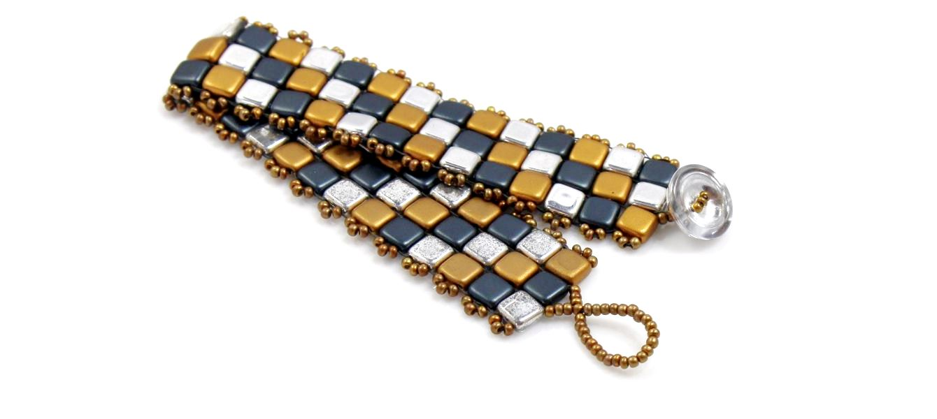 Image of Metallic Squares Bracelet