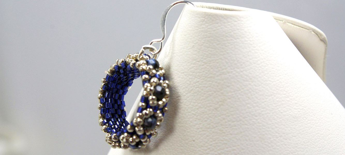 Blue Wreath - Earrings