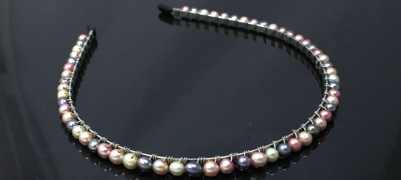 Neutral Tone Pearls - Headband