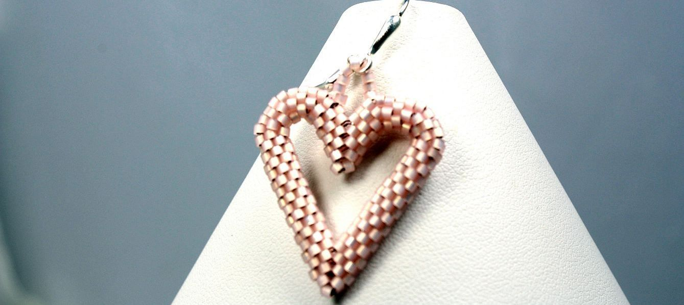 Image of Pink Hearts - Earrings