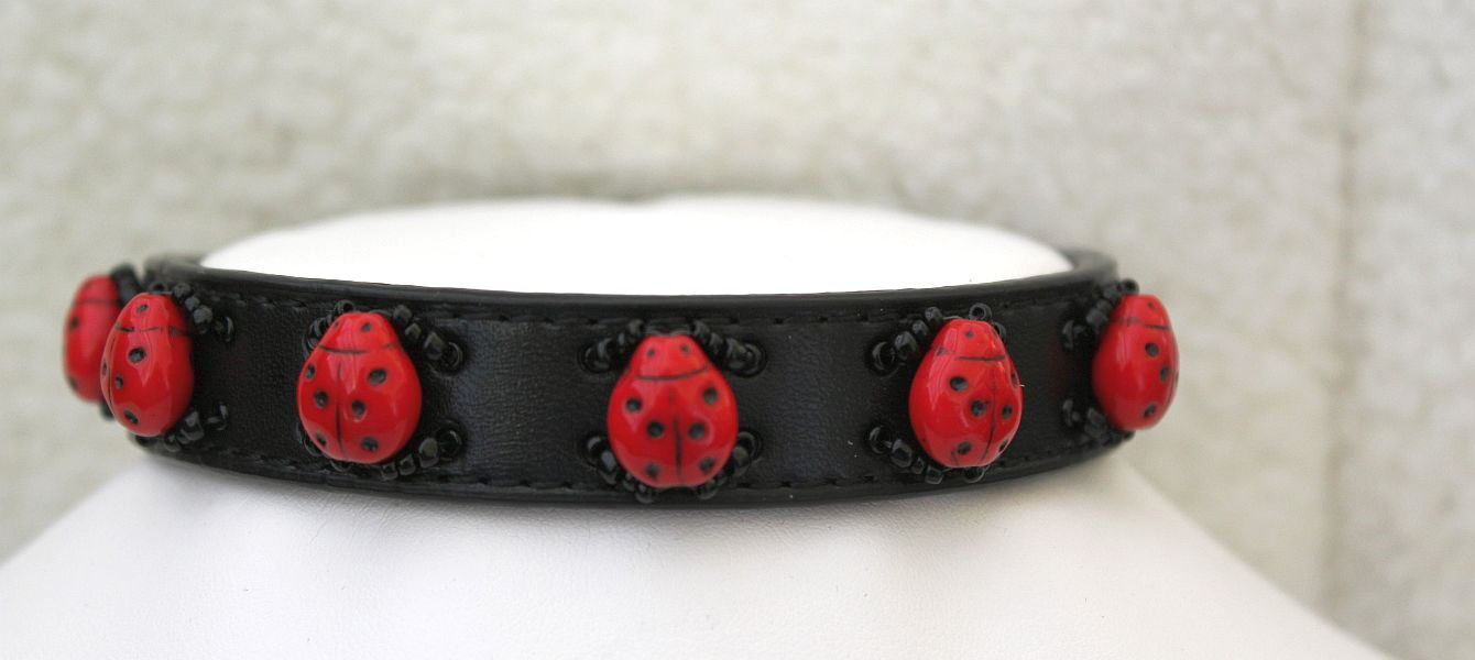 Lady Bugs - Dog Collar