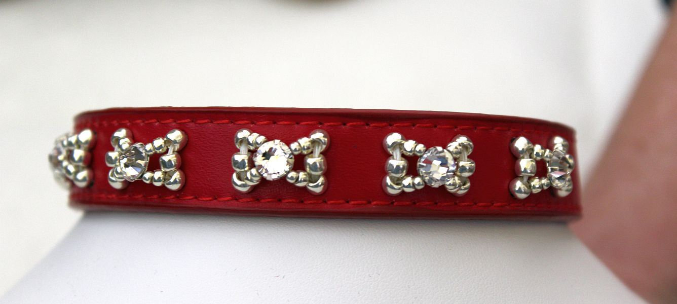 Red Crystal - Dog Collar