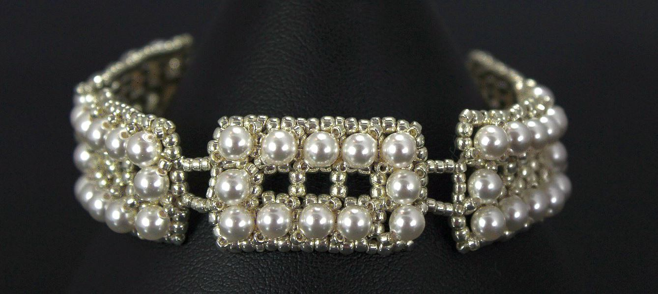 Rectangle Pearls - Bracelet