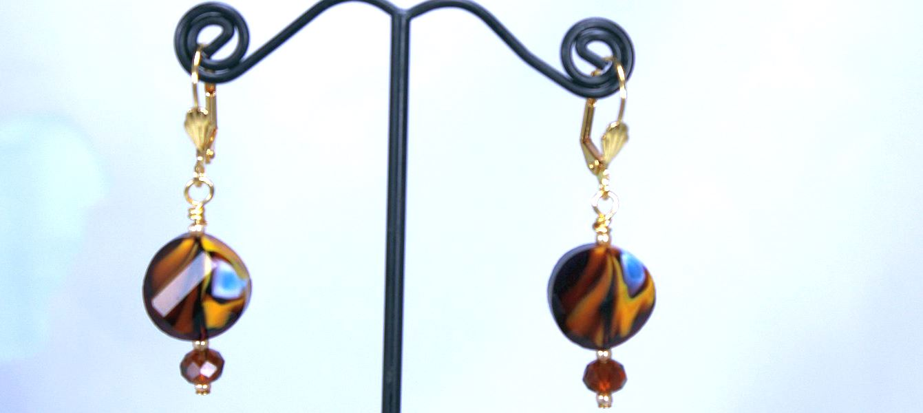 Tortoiseshell Topaz Earrings