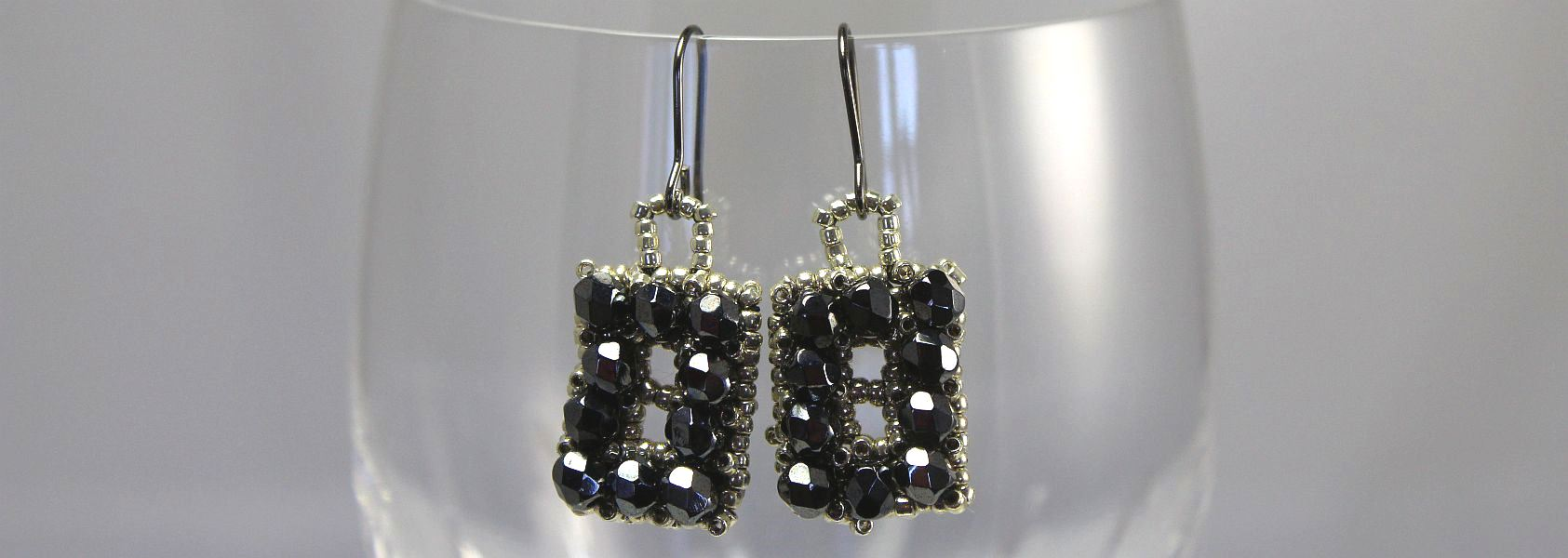 Hematite Rectangle Earrings
