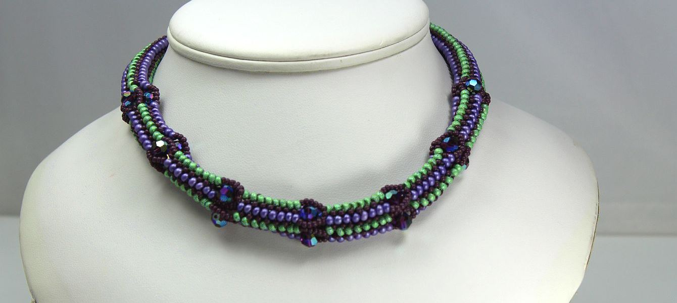Image of Green & Violet Sparkle - Necklace