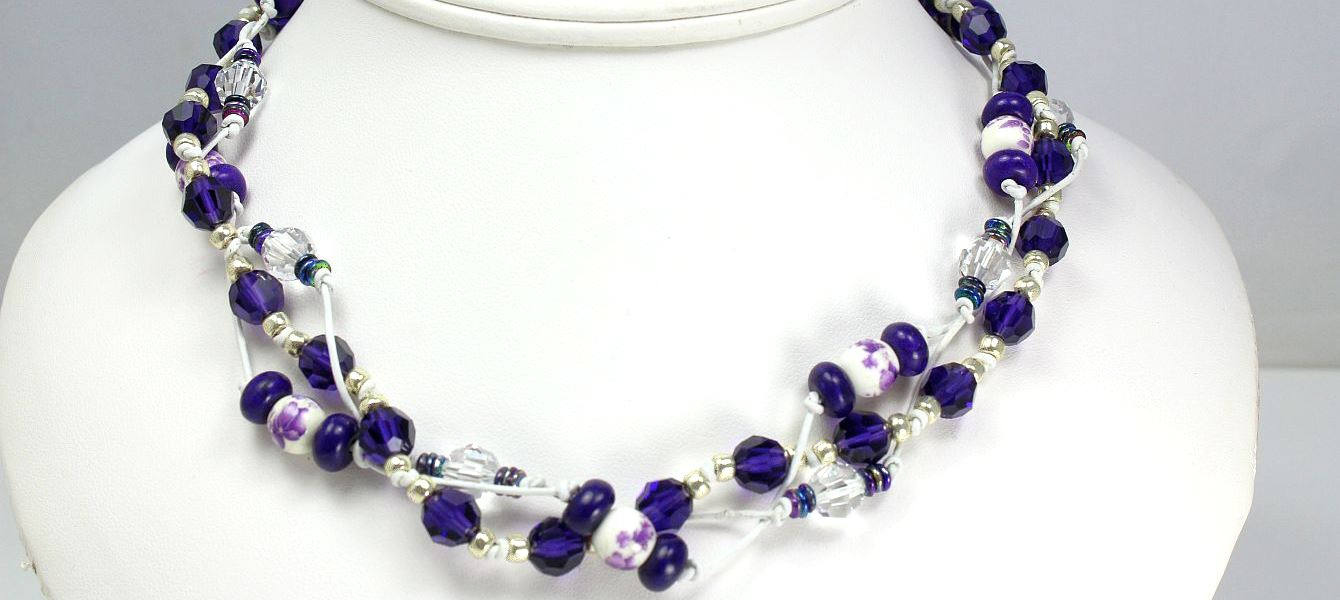 Lilac Twist - Necklace