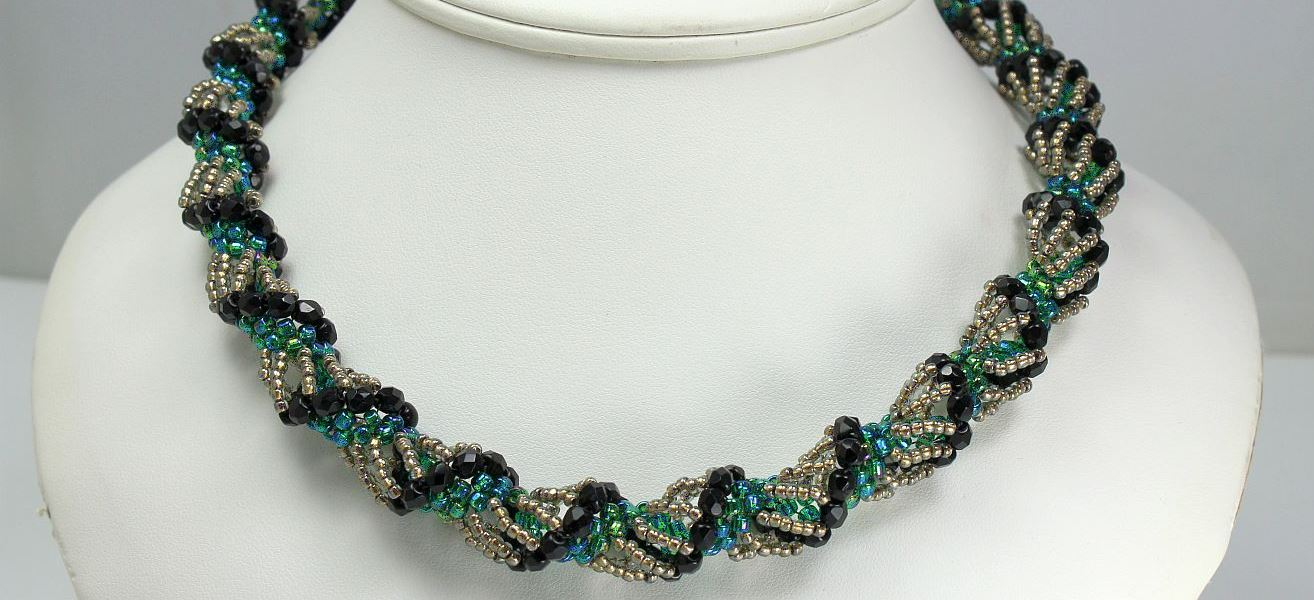Dutch Jet Spiral - Necklace