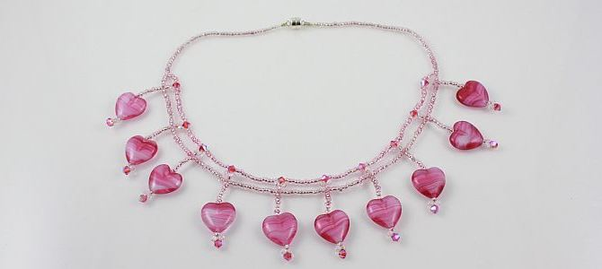 Hearts of Pink Necklace