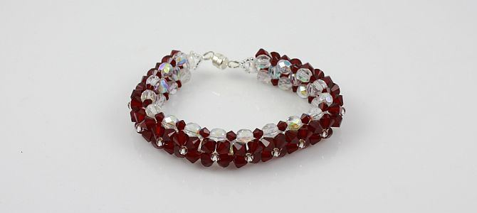 Ruby on Ice Bracelet