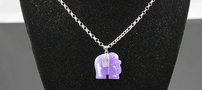 Perfect Purple Elephant Necklace