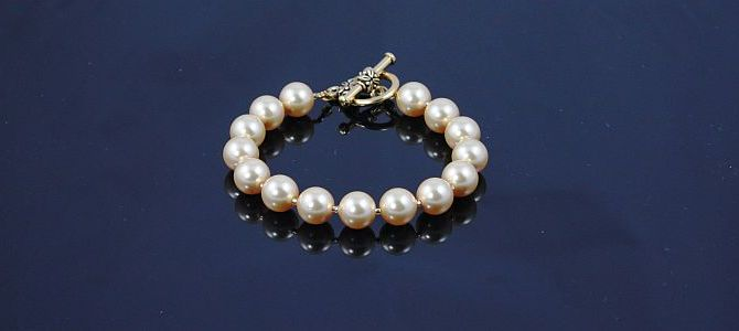 Gold Pearls Bracelet