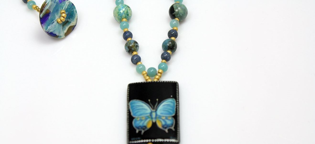 Blue Butterfly - Necklace