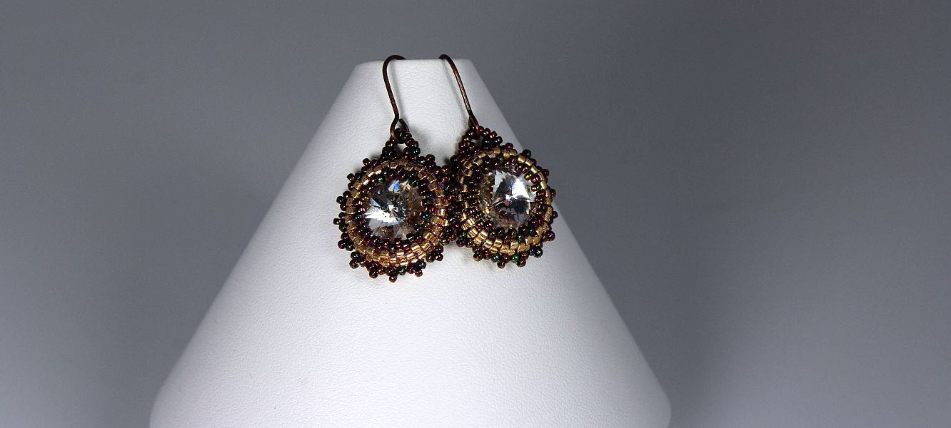 Crystal Bronze Earrings