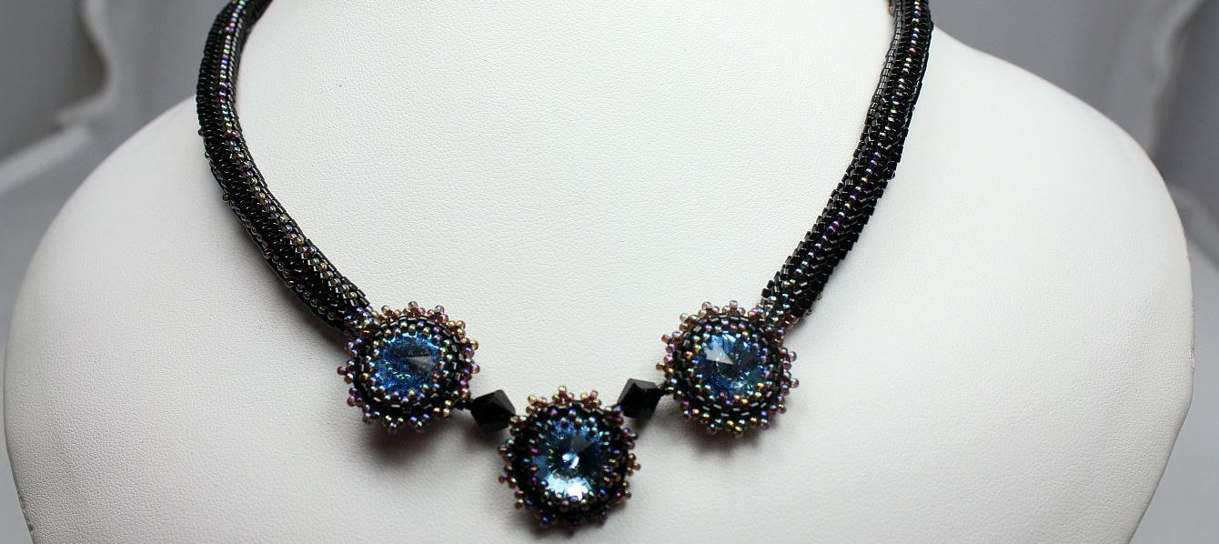 Ice Blue Midnight Choker