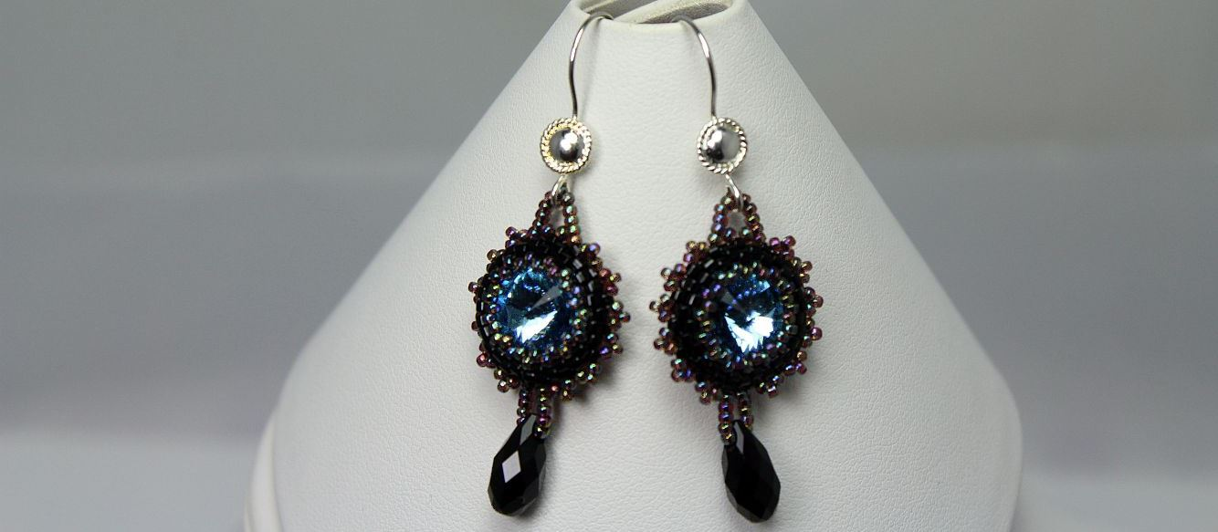 Ice Blue Midnight Earrings