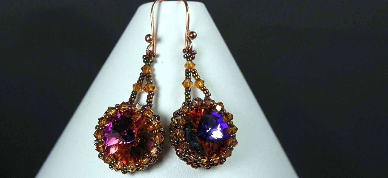 Sparkling Sunset Earrings