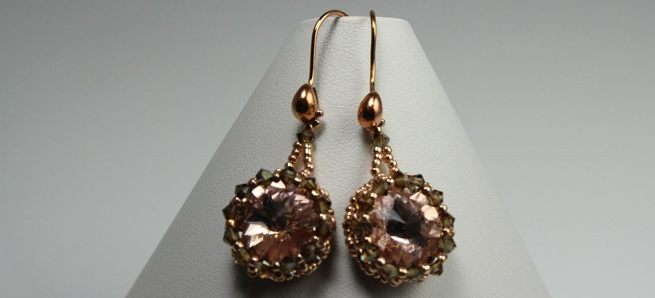 Apricot Drop Earrings
